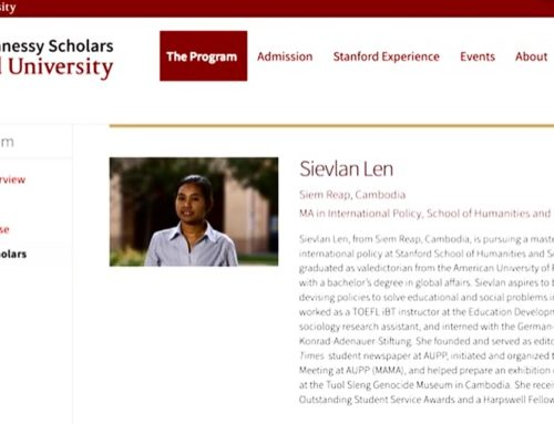 Harpswell Grad Len Sievlan Selected as Knight-Hennessey Scholar at Stanford
